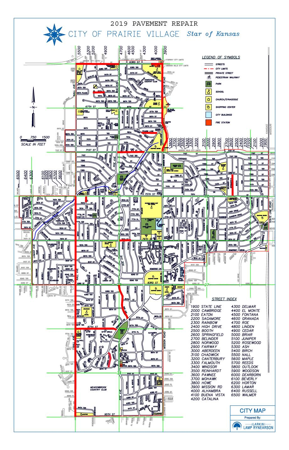 Construction Projects - 2019 | City of Prairie Village
