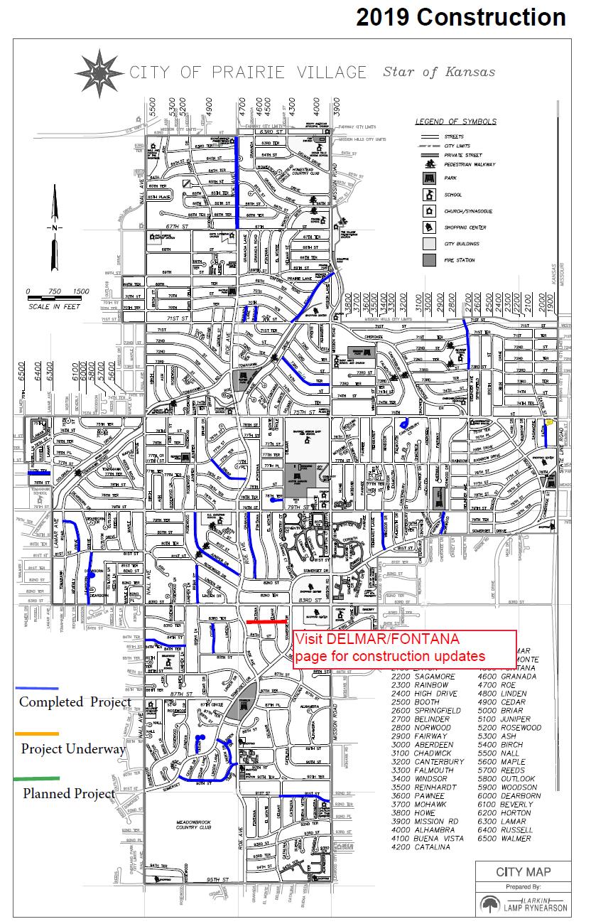 Construction Projects - 2019   City of Prairie Village on pawnee county oklahoma map, kiwanis park map, pawnee oklahoma street map,