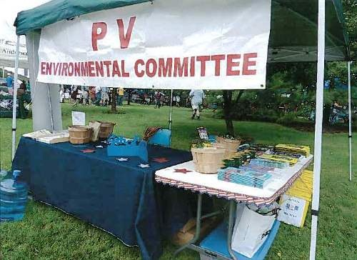 Environment/Recycling Committee Booth at VillageFest