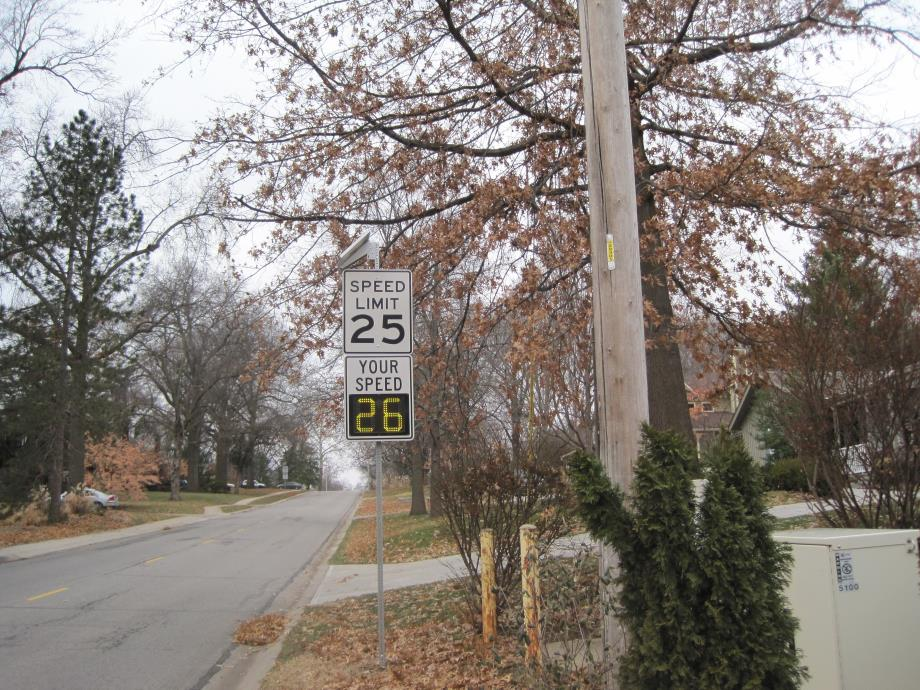 67th Street Traffic Calming Electronic Signs